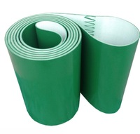 2000mm x 210mmx2mm PVC Green Transmission Conveyor Belt Industrial Belt