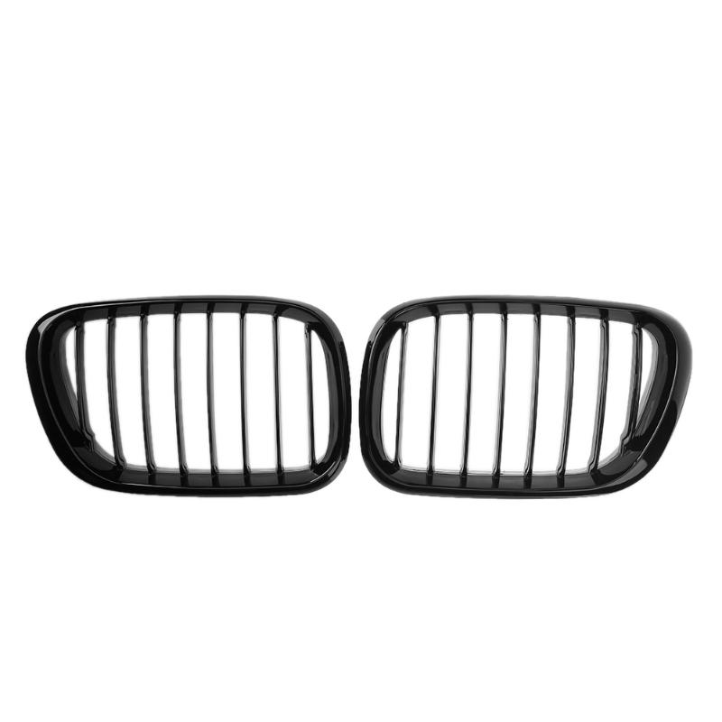 2pcs/lot Gloss Black Car Racing Grills Automobile Front Kidney Grille Grills for BMW E53 X5 Sport 1999-2003 for bmw e53 x5 2004 2006 4dr lci facelift car front grille grills car styling covers grilles