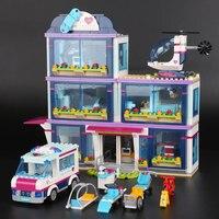 Lepin 01039 Girl Series 932Pcs The Heartlake Hospital 41318 Model Building Blocks Bricks Funny Christmas Toys