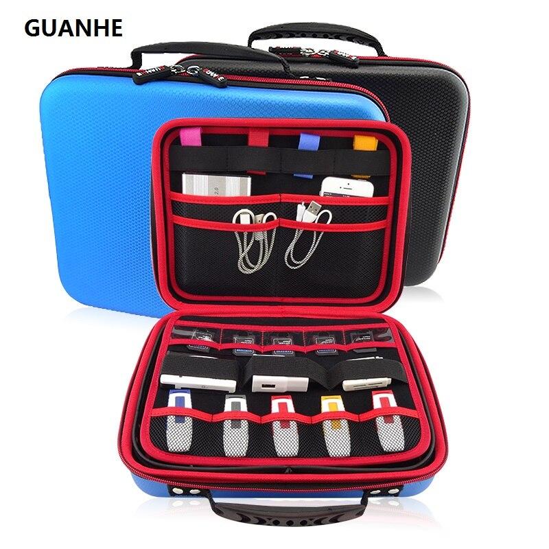 GUANHE 3,5 Zoll GROßE GRÖßE USB Stick Organizer Elektronik Zubehör Fall/Festplatte HDD Tasche Tasche/Mini PC/tablet/maus
