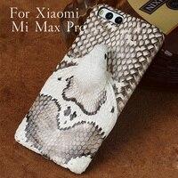 LANGSIDI brand phone case real snake head back cover phone shell For Xiaomi Mi Max Pro Plus full manual custom processing