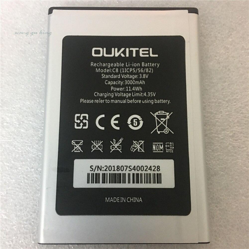 100% D'origine 5.5 pouces Oukitel C8 Batterie Réel 3000 mah Remplacement De Batterie de Secours Pour Oukitel C8 Mobile Téléphone