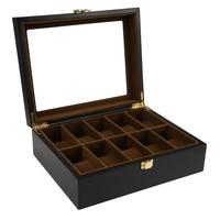 2018 High Quality 10 Grids Wooden Watch Box Jewelry Display Storage Holder Organizer Watch Case Jewelry Dispay Watch Box