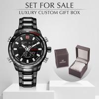 NAVIFORCE Top Luxury Brand Men Watches Quartz Military Men's Clock With Box Set For Sale Waterproof Man Watch Relogio Masculino