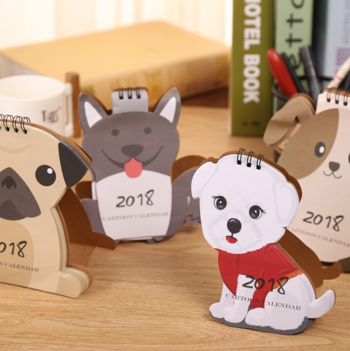 Calendars, Planners & Cards 1 Pcs Lovely Dog Calendar 2018 Calendars Desk Calendar Office School Stationery Supplies 2018 Calendar