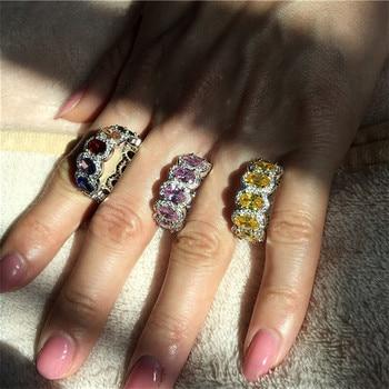 f9ec116d0bc7 Anillo familiar personalizado 4 Birthstone graba 4 anillos de nombre para  mamá 925 joyería de aniversario de plata esterlina (joyería RI102986)