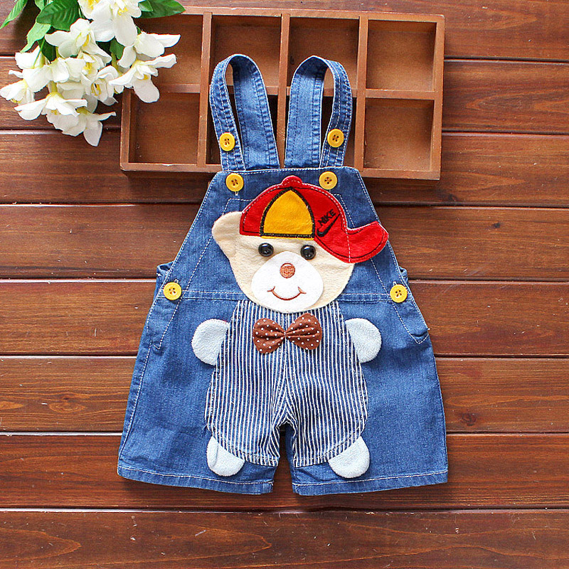 604d31529133 DIIMUU Kids Fashion Summer Baby Boys Girls Overalls Denim Short Pants  Casual Cute Jumpsuits Children Clothing Cartoons Bottoms