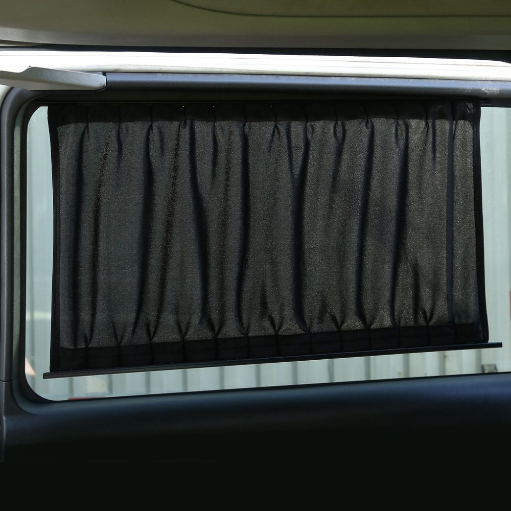 New 2 Pieces Automobile Sunshade Curtains Vehicle Blinds Cover Car Window Curtains Elast ...
