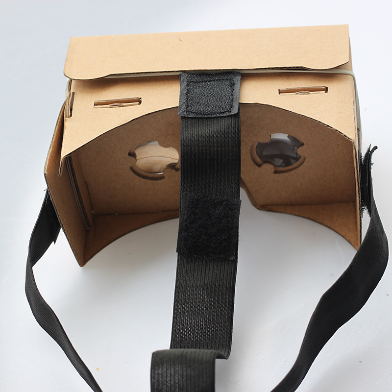 2016 new google cardboard virtual reality VR 3D glasses with headmounted strap cloth band free shipping to all countries