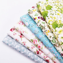 Floral Series Printed Pure Cotton Twill DIY Quilting Fabric For Home Decoration Cushion Sewing Child&Kids Cribs Material Cloth