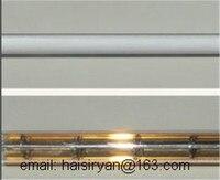 カスタマイズされた 500 ワット 350 ミリメートル遠単管電気ハロゲン IR 石英ガラスヒーターパイプ