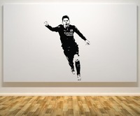 Lionel Messi Art Decals Football Player Wall Stickers Nontoxic Pvc Wall Decal For Living Room Waterproof