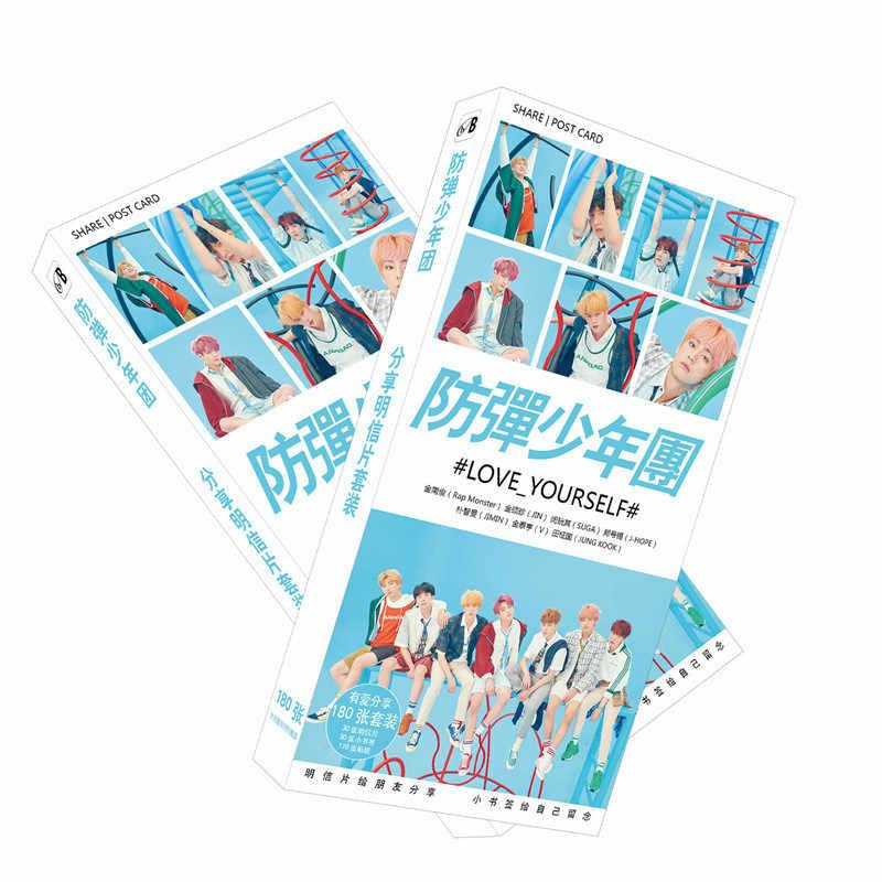New Kpop  Bangtan Boys  LOVE YOURSELF ANSWER Concept Photos Version Photocards Postcards Poster 180pcs/set