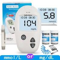 SINOCARE Accu, глюкометр для измерения уровня сахара в & Тесты полоски и Ланцеты 50/100 шт комплект глюкометра крови у диабетиков измеритель сахара д...