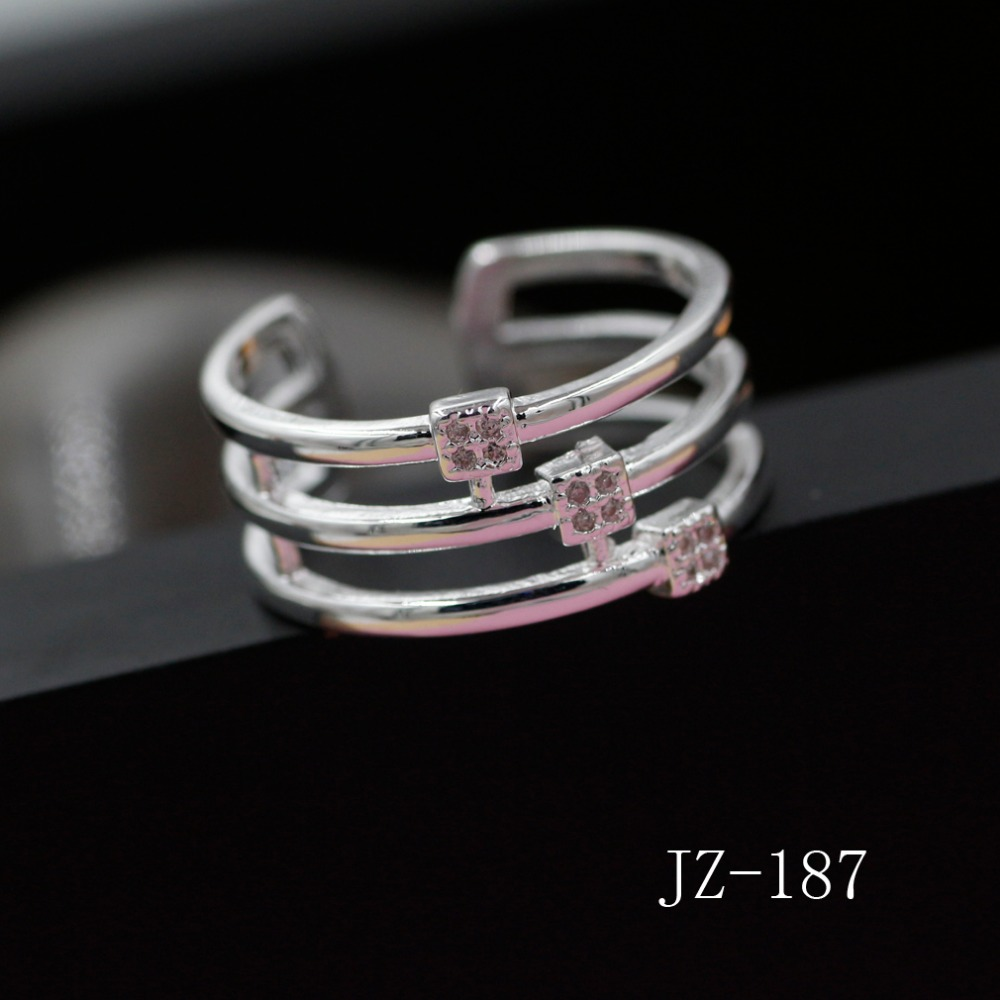 Vintage Style  Created Sterling 925 Sterling Silver Zircon Wedding Anniversary Engagement Ring Set Jewelry JZ030