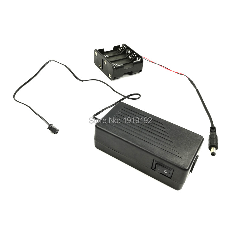 High-grade DC12V EL Driver EL inverter with Cell box for 30M EL wire and EL strip powered by 8-AA battery For Party decoration