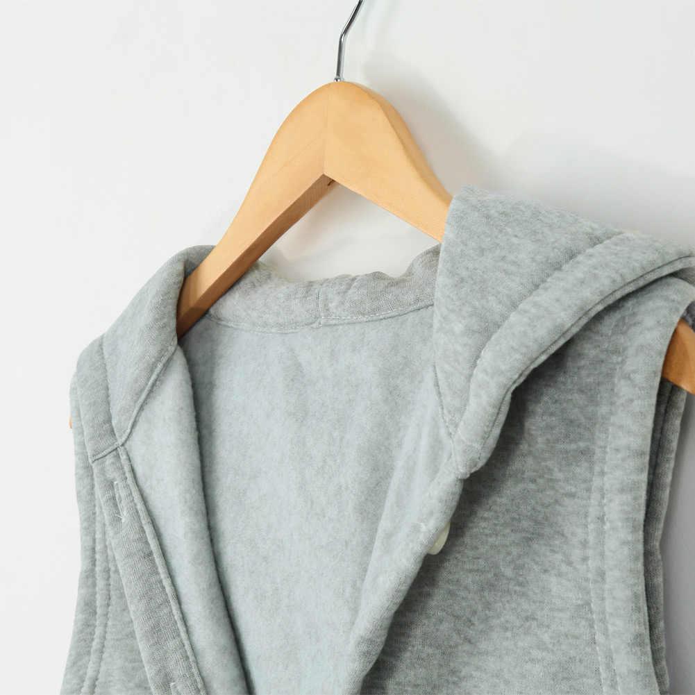 Осенне-зимний модный женский костюм из двух предметов пальто, джинсовая куртка с капюшоном жилет негабаритных повседневных джинсовых пальто Женская Верхняя одежда Топы
