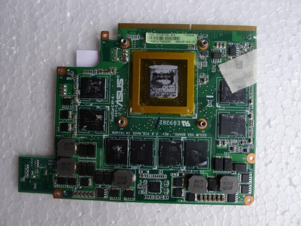 ФОТО Free shipping GTX460M Video/VGA Card Graphic card N11E-GS-A1 for ASUS GG73JW G53 G72GX G74GX G53 G53SX G53JW G60 laptop notebook