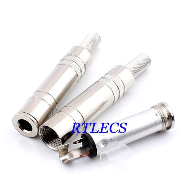 2pcs 0 25 6 35 mm stereo audio jack female wire solder type 1 4 rh aliexpress com