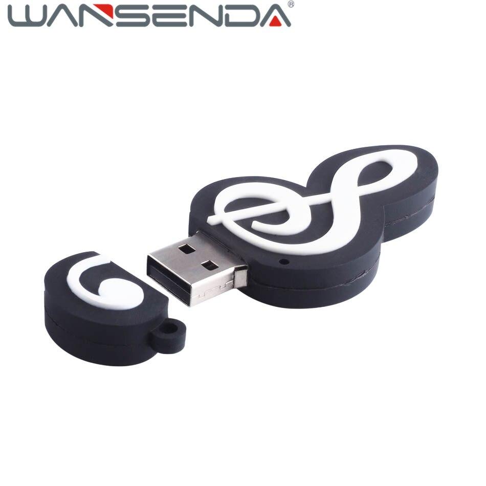 USB Flash Drive Music Notes U Disk Pen Drive USB Storage Computer U Disk Memory Thumb 64 gb USB Flash Full Capacity