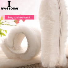 Natural Sheepskin Insoles Winter Real Fur Wool insoles Men Women Warm Heated Soft Thick warm Cashmere Snow Boots Shoe Pad Insert kotlikoff warm heated insoles soles for shoes winter thick pad warm insoles imitation wool breathable snow boots fur insoles pad