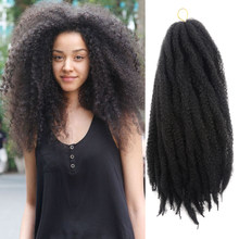 Marley Braids Hair Extension Ombre Afro Curly Synthetic Crochet Kanekalon Braiding Hair Weave 18strands/pack Toyotress Hair(China)