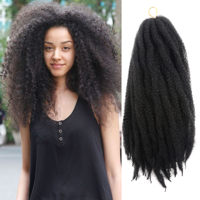 Marley Braids Hair Extension Ombre Afro Curly Synthetic Crochet