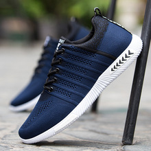 Men Mesh Shoes 2019 Summer Fashion Sneakers Breathable Casual Lace Up High Quality Lightweight