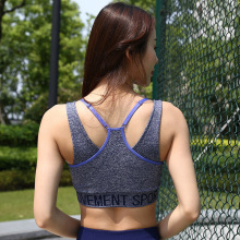 New Autumn and Winter Yoga Sports Underwear Fitness Bra Quick-drying Vest Bra Gathered Shockproof low impact quick drying sports bra in contrast color