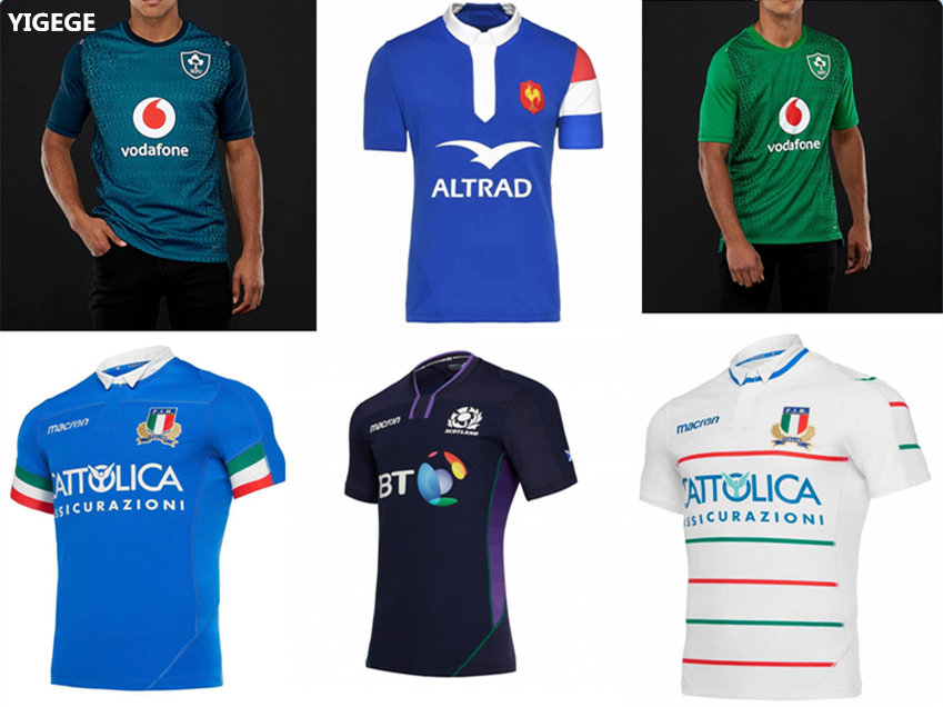 8404cd2aaaf Hot sales 6 nations League rugby Jersey 2019 scotland france italy Ireland rugby  Jerseys League shirt singlet s-3xl
