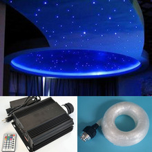 NEW 45w RGB LED fiber optic star ceiling light kit 0.75&1.0&2.0&3.0mm optical fiber end glow LED dmx light engine light source