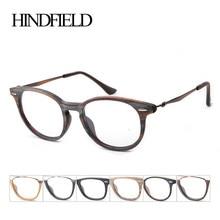 HINDFIELD Acetato marco de las lentes Del Diseñador de la Marca de Moda para las mujeres Ronda Retro Lente Transparente Gafas de Marco gafas de sol hombre