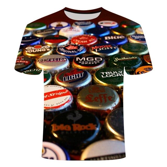 3D Beer Print T-shirt  5