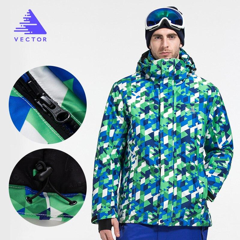 Vector marque veste de Ski et pantalon hommes chaud hiver snowboard costume imperméable coupe-vent Ski neige costume hommes HXF70012 - 2