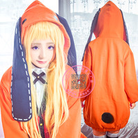 2018 Anime Kakegurui Figure Yomotsuki runa JK School girls Uniform +Hoodie Halloween cosplay costume Kakegurui for free shippin