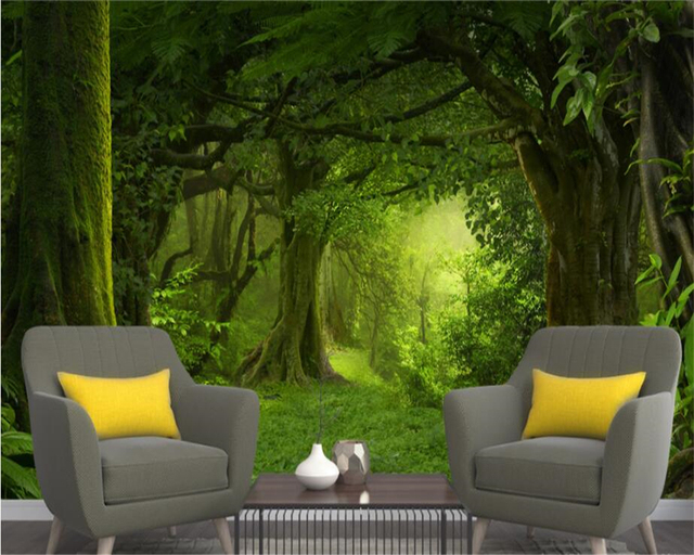 beibehang custom wallpaper home decorative mural mystery woodlandbeibehang custom wallpaper home decorative mural mystery woodland grass 3d background wall living room bedroom 3d