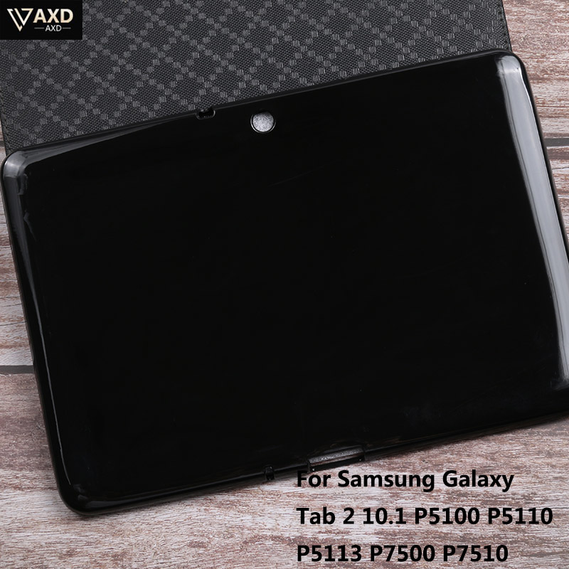 Caso Tablet Para Samsung Galaxy Tab 2 10.1 P5100 P5110 P5113 P7500 P7510 Shookproof Silicone Macio TPU Protetora Fino Para Trás cobrir