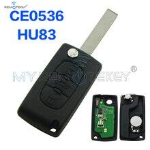 ФОТО CE0536 models flip remote key 3 Button 434mhz HU83 for Citroen C3 C4 C5 key