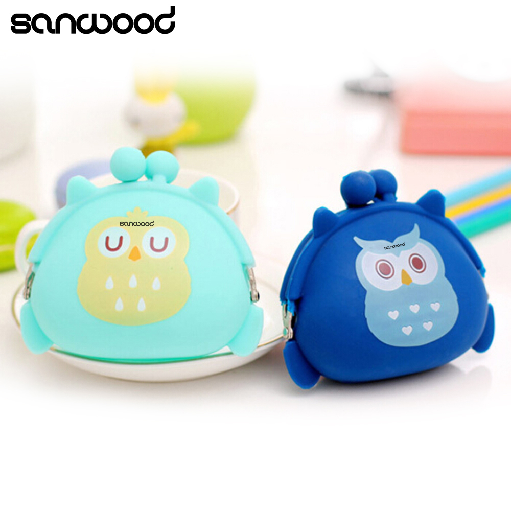 Coin Purses Women Purse for Coins Children's Wallet Kids Wallets Cute Cartoon Owl Silicone Jelly Change Bag Keys Pouch Carteira coin purses women purse for coins children s wallet kids wallets cats fashion small bag gato monederos mujer monedas carteira