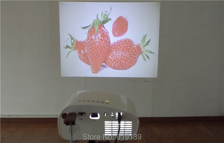 802 projector testing under daytime indoor 2