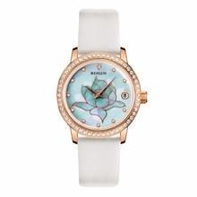 BINLUN Rose Gold Ladies Automatic Mechanical Watch Waterproof Diamonds Luxury Wrist Watch for Women