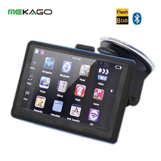 5 ''WinCE 6.0 Car GPS Navigator Bluetooth Transmissor FM 8 GB de Memória Interna Do Painel Do Carro Sistema de Navegação GPS