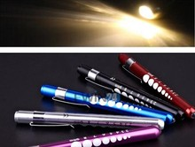 Diagnostic Medical Aid Pen Light Penlight Flashlight Pocket Torch With Scale Hot Sale(China)