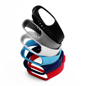 Image 5 - BOORUI Pulsera Colorful Miband 3 Strap correa Silicone Miband 3 band replacement accessories wrist strap for xiaomi mi3 bracelet