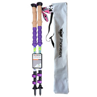 New Latest Technology Design 100 Carbon Lightweight But Strong Durable Telescopic Stick Trekking Stick Nordic Walking