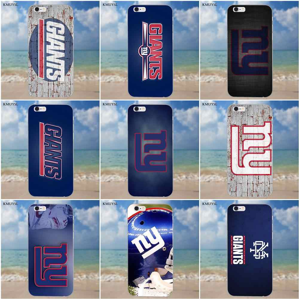Kmuysl Ny Giants для iPhone 4 4S 5 5C SE 6 6 S 7 8 Plus X Galaxy S5 S6 S7 S8 Grand Core II Prime Alpha Мягкий ТПУ чехол для телефона