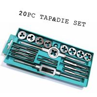 Flexsteel Top Quality Alloy Steel Tap and Die Set Metric Tap Dies Set for Professional Use 20pcs
