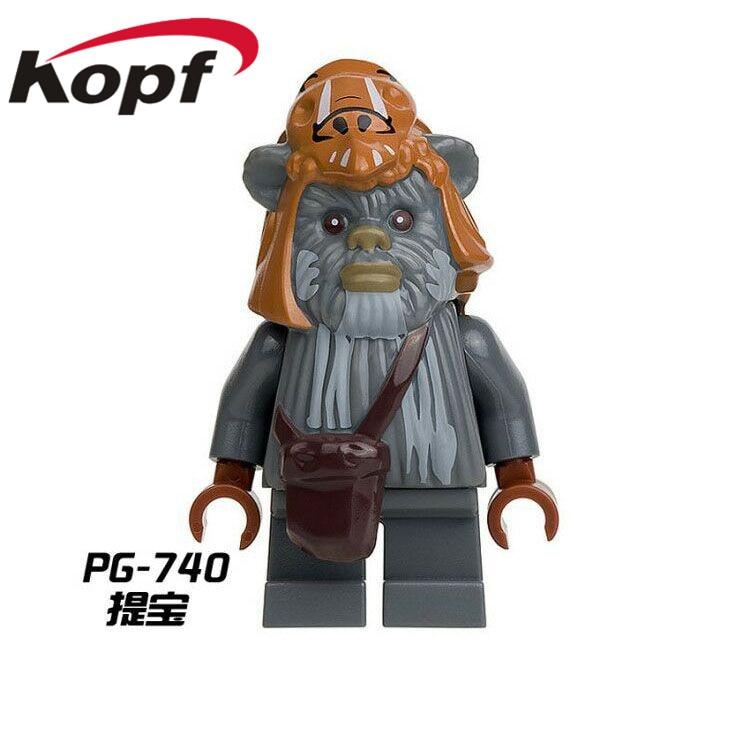 Single-Sale-Star-Wars-Ewok-Village-Tan-Tokkat-Wicket-Logray-10236-Battle-of-Endor-8038-Building-Blocks-Toys-for-children-PG8067-3