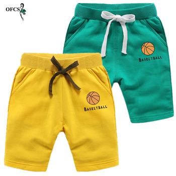 OFCS dziecięce spodenki chłopięce spodnie dla chłopca dziewczęce spodenki dziecięce bawełniane dla chłopców z motywem sportowym spodenki plażowe dziecięce chłopięce krótkie spodnie dla aktywnych 2-12 tanie i dobre opinie Szorty Elastyczny pas Dziewczyny Summer of 2018 Pasuje prawda na wymiar weź swój normalny rozmiar Luźne COTTON Stałe