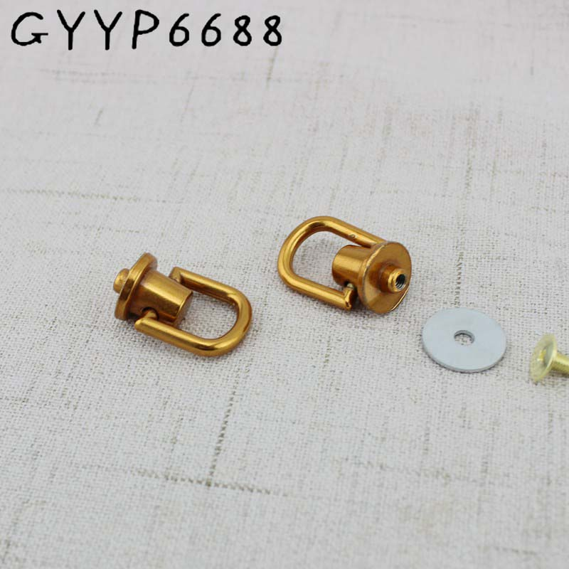 4pcs Old Gold Bag Hanger Hardware Accessories On Both Sides Of The Screw D Ring Bag The Package Chain Metal Hanger Connector